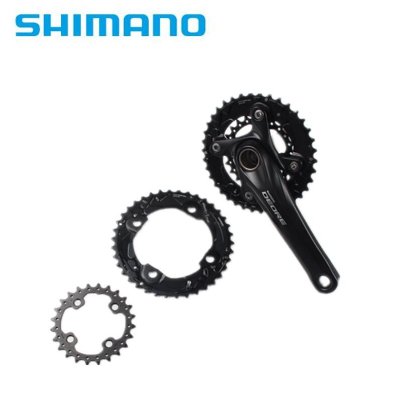 Shimano Deore Original M610 M615 104BCD 2x10 Speed 38-24T MTB Crank Chainring 20s Bike Bicycle Crown Mountain Bike 38T & 24T шатуны mtb fsa gravity extreme bash 36 24t 175mm