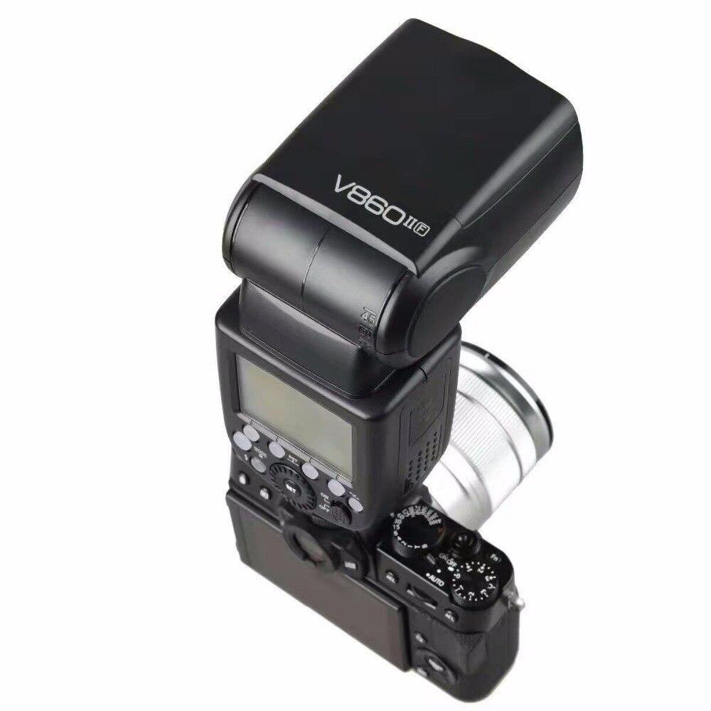 Godox V860ii F Ttl Hss 1 8000s Speedlite Flash X1t Thumb Up Grip Hot Shoe Kamera Fuji Nikon Sony Dll Transmitter For X Pro2 Pro1 T10 T20 T2 T1 X100f X100t In Flashes From Consumer