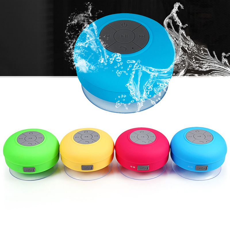 Mini Portable Subwoofer Shower Waterproof Wireless Bluetooth Speaker Car Handsfree Receive Call Music Suction Mic pk xiaomi 7
