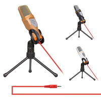 Audio Condenser Microphone Mic Studio Sound Recording Wired Micro Phone With Stand For Radio Braodcasting Online