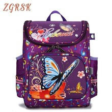 Children Bags For Girls Kids Butterfly Schoolbag Backpack Children School Bags For Boys And Girls Mochila Bagpack Plecak цены онлайн