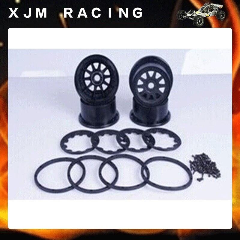 KIT de roues ROVAN avec anneau de verrouillage et vis pour HPI KingMotor BAJA 5SC