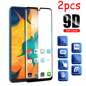 2 Pcs/lot Full Glue Samsun A50 Glass For Samsung Galaxy A70 A40 A30 A50 Protective Glass On The Galax A 50 30 40 70 50A 70A Film