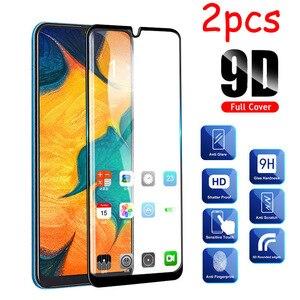 Image 1 - 2 Stks/partij Volledige Lijm Samsun A50 Glas Voor Samsung Galaxy A70 A40 A30 A50 Beschermende Glas Op De Galax Een 50 30 40 70 50A 70A Film