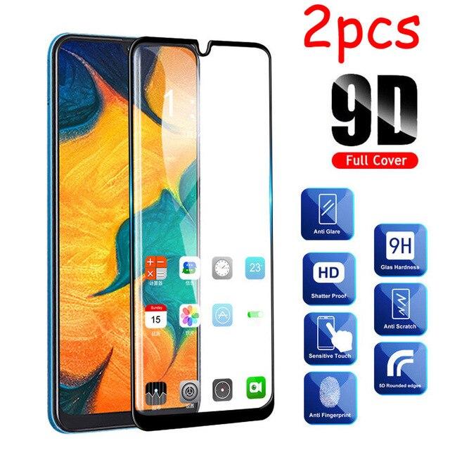 2 Stks/partij Volledige Lijm Samsun A50 Glas Voor Samsung Galaxy A70 A40 A30 A50 Beschermende Glas Op De Galax Een 50 30 40 70 50A 70A Film