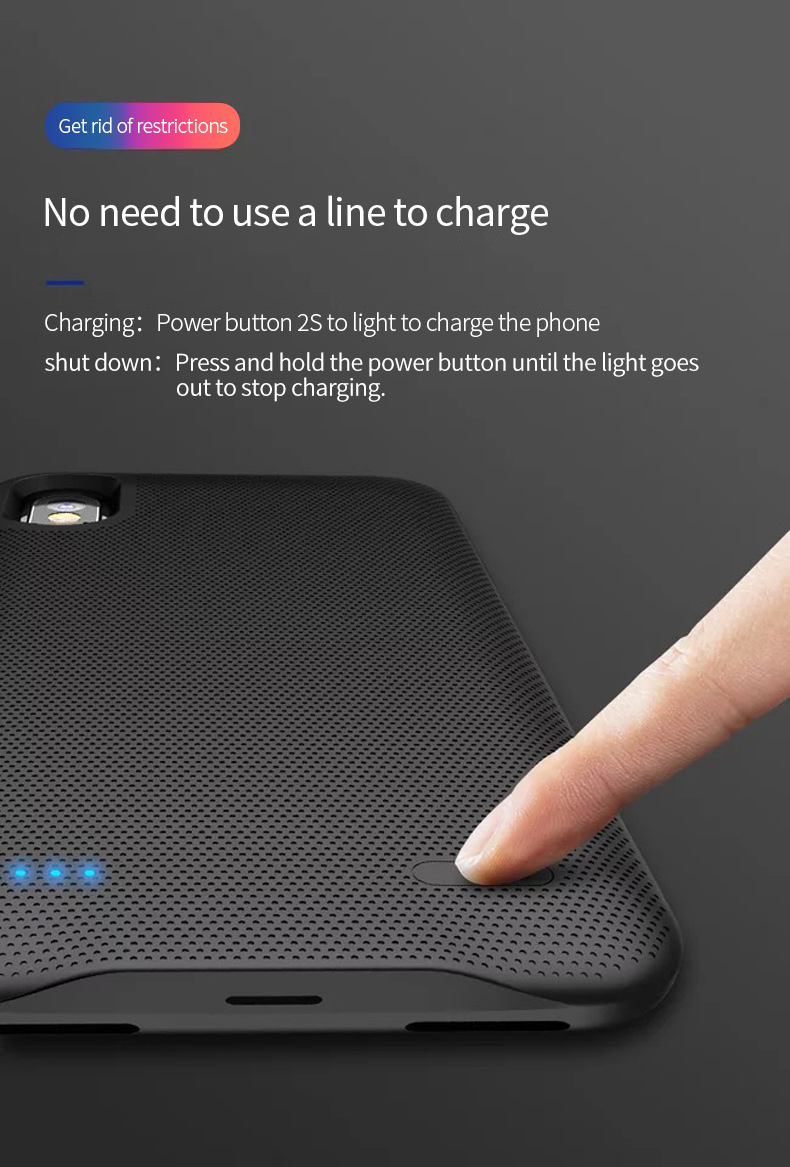 protable 2500 Power Bank Polymer lithium ion Battery Back clip charging phone case Power bank battery for iPhone 6 6s 7 8 in Rechargeable Batteries from Consumer Electronics
