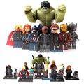 8pcs  SuperHeros Marvel Avengers military figures Building Blocks Sets Kids toy Bricks deadpool friends Hulk Batman spiderman