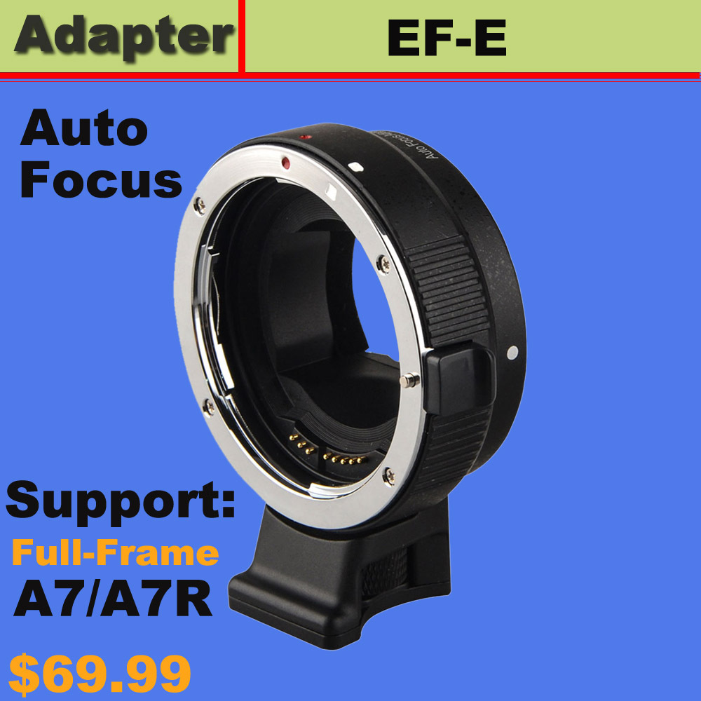 Auto Focus AF Adapter for Canon EOS EF EF-S mount lens to Sony E A7 A7R NEX-6 wholesale price jmfoto electronic af auto focus lens adapter for canon eos ef ef s body to sony e nex a7 a7r lens full frame