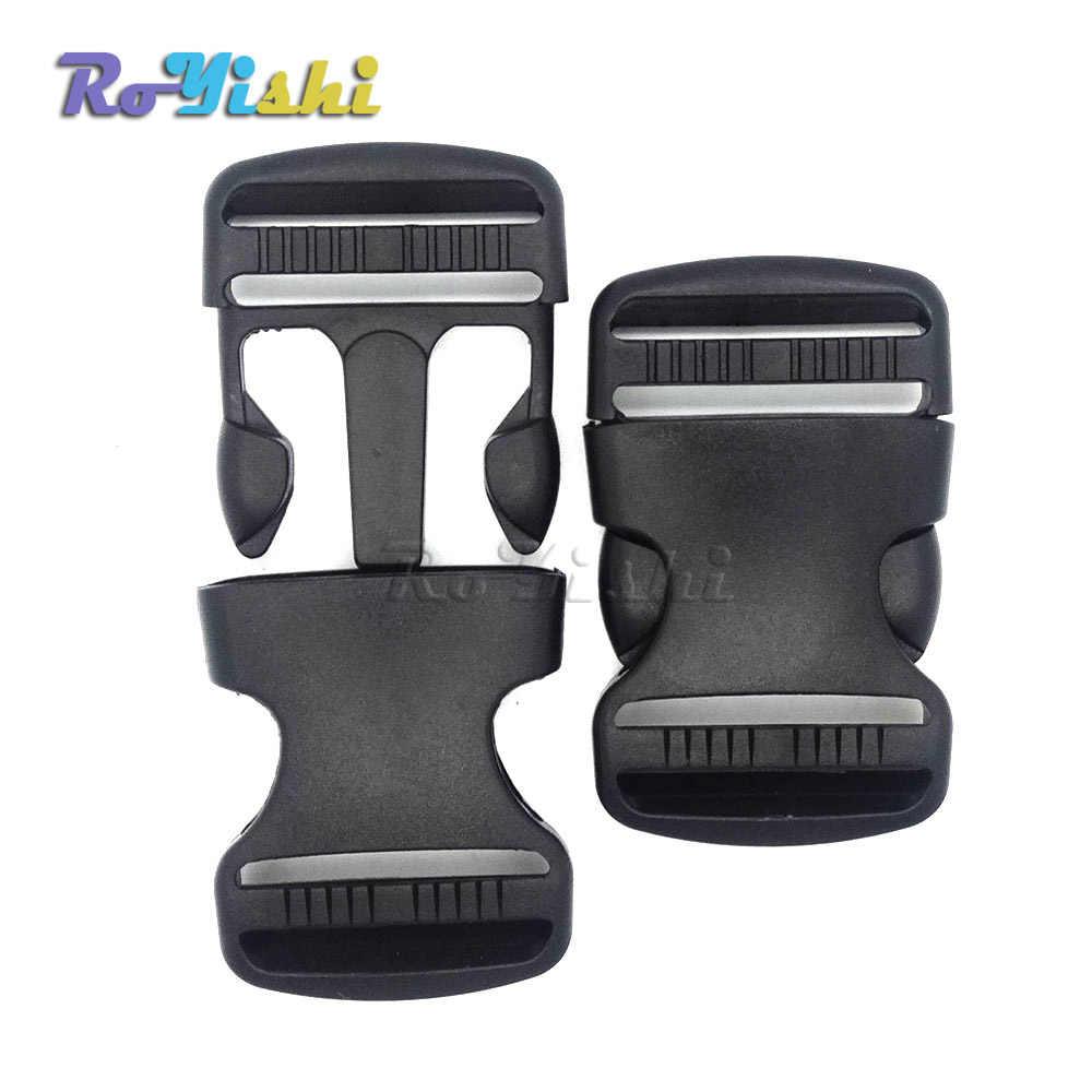 1 piezas 1-1/2 pulgadas de plástico plana hebillas de Liberación lateral correas ajustables para pulseras de Paracord correas 38mm
