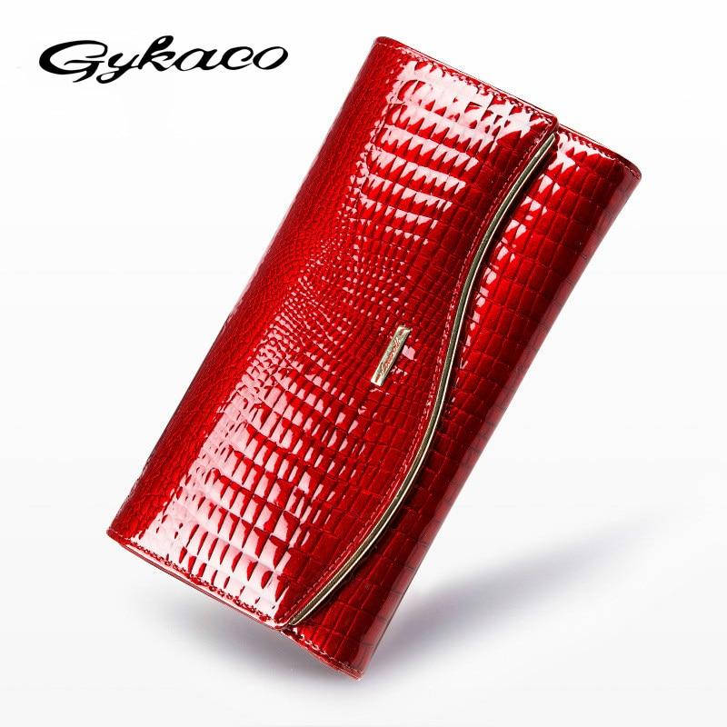 Ladies Women Wallets Genuine Leather Purses Long Wallet Women Elegant Female Red Womens Wallets Woman Leather Wallet Purse