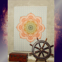130x150cm Color Printed Decorative Mandala Tapestry Indian Bohemian Wall Rug Yoga Mat Travel Mattress Elephant Hanging Carpet