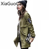 Outwear Waterproof Fashion Women Jackets Blue High Quality Female Jackets Zipper Wide Waisted Casual Student Coats