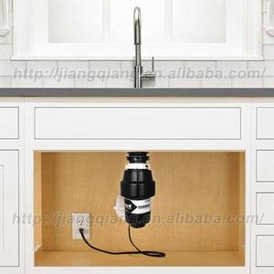 Image 4 - Distributeur de déchets alimentaires domestiques + interrupteur pneumatique, 850W, broyeur de déchets alimentaires pour la cuisine, technologie à moteur allemand, 3/4 HP