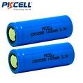 2 unids/lote pkcell icr 18500 batería 3.7 v 1400 mah li-ion de litio recargable batería 18500 bateria recarregável batteies baterias