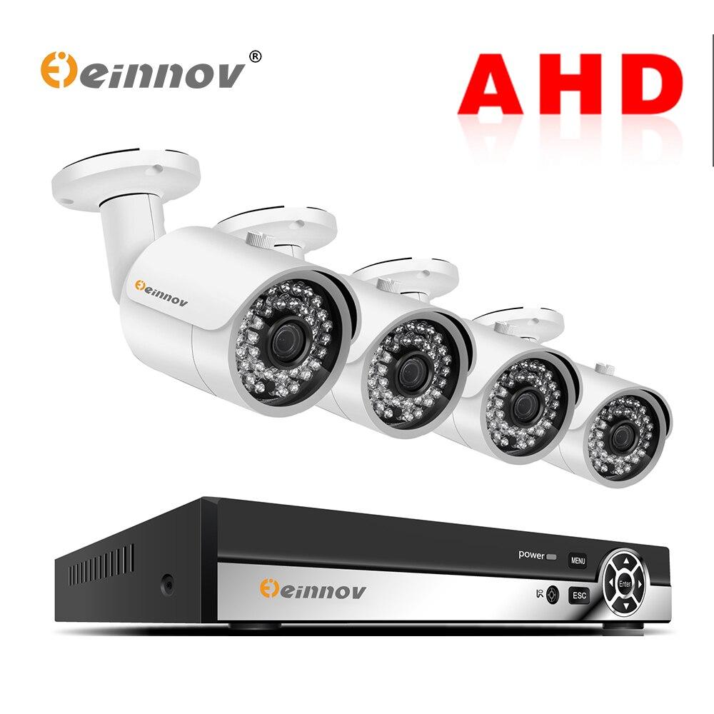 Einnov 4CH 1080 P Surveillance vidéo Surveillance extérieure 2MP CCTV caméra ensemble Kit de système de sécurité à domicile DVR AHD caméra vue de nuit