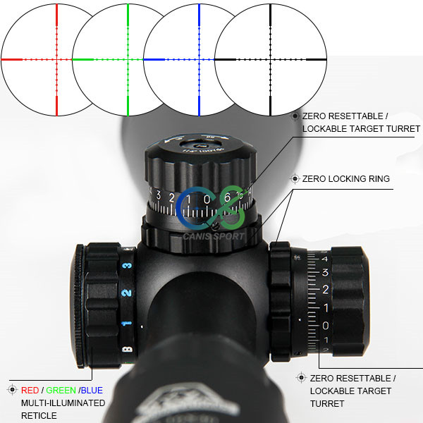 Image 5 - Canis Latrans 4X32 Rifle Scope Mil Dot Airsoft Gun Tactical Scope Reticle Optical Scope 4 16X40 Gun Rifle Scope 6 24x50 Scopes-in Riflescopes from Sports & Entertainment