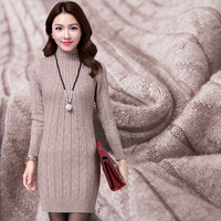 2016 Korean Winter Women S New Slim Semi Turtleneck Sweater Girls Long Sweater Color Shirt