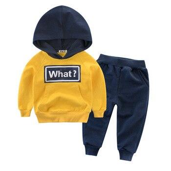 2018 Осенняя детская одежда, новый 27 детей Детский костюм, мальчика осень одежда Двойка из Детский свитер.