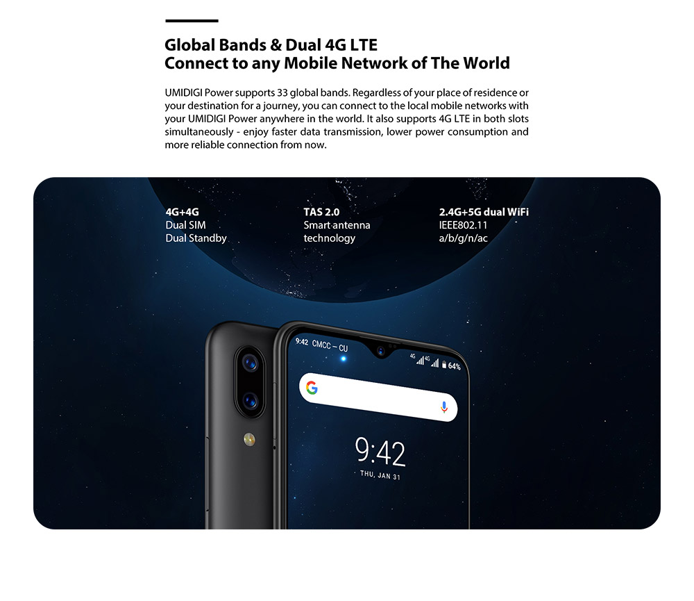 "HTB175XeQmzqK1RjSZFjq6zlCFXae Umidigi power 6.3"" 4GB 64 ROM Mobile phone Octa Core Android 9.0 16MP+16MP Cell phone NFC 4g 5150mAh unlocked smartphone gsm"