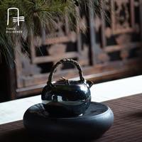 Chinese Vintage Silver Tea pot 999 Silver Kettle Boil Water Pot Handmade Teapot With Gift Box Vine makes up a dozen silver pot