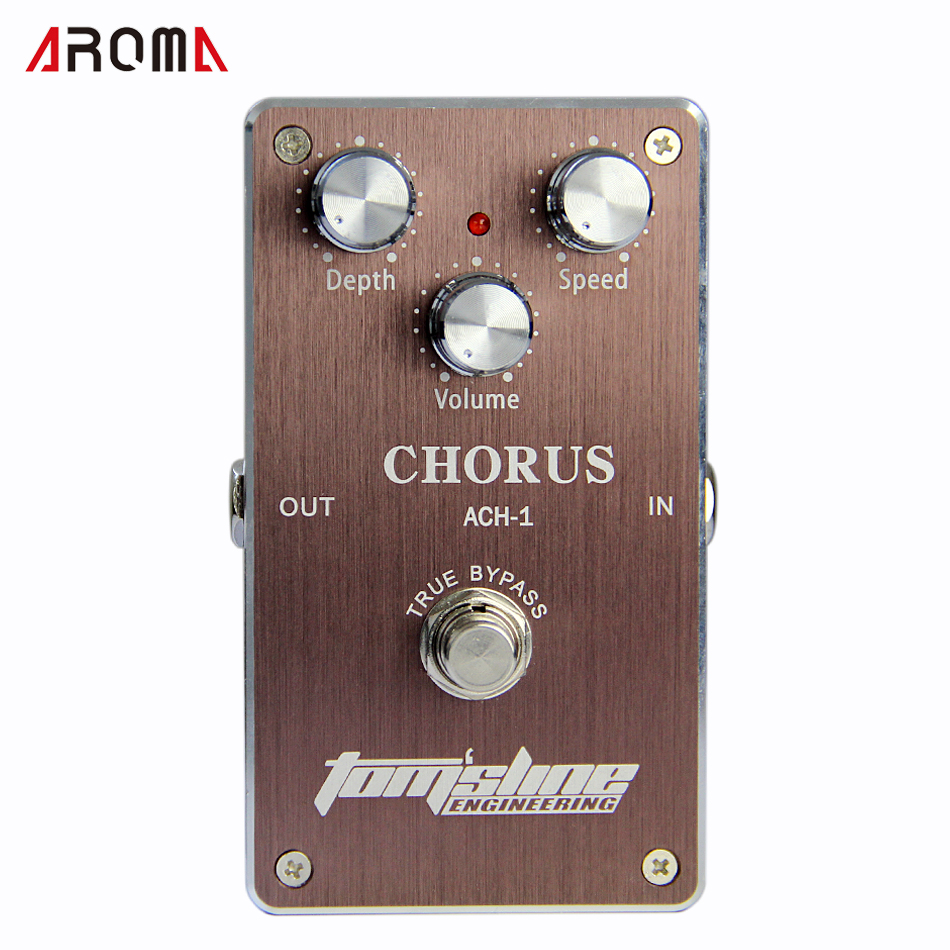 Electric Guitar Effectors Aroma ACH-1 Chorus Effects Pedal PROMOTION Price light weight aroma ach 3 mini chorus electric guitar effect pedal guitar parts and accessories