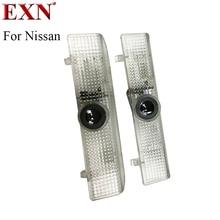 2xcar LED любезно дверь логотип проектор свет Призрак Тень Лампа для Nissan Teana нового автомобиля логотип свет Высокое разрешение любезно лампа