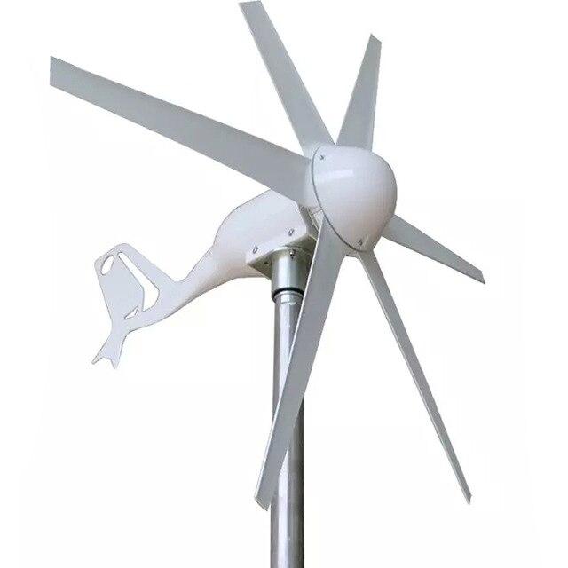 Wind Turbine Generator 400W Small Start Wind Speed 24V 12V AC Three-phase output 6pcs Blades
