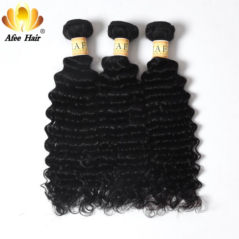 Aliafee Brazilian Deep Curly Hair 1PC Remy Emberi hajhosszabbítás - Emberi haj (fekete)