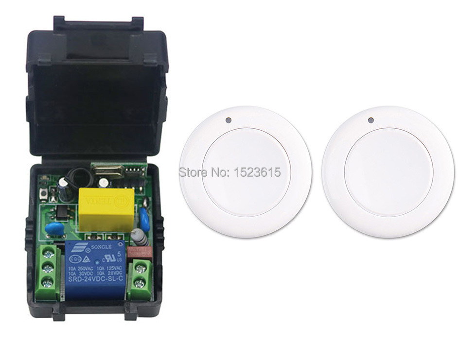 все цены на New multi-function  output mode AC 220 V 1CH Wireless Remote Control Switch System Receiver & 2*White wall Panel Sticky Remote онлайн