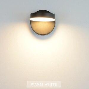 Image 3 - Nordeic LED โคมไฟ 3 สีพร้อมสวิทช์ผนัง 12W สีขาวสีดำในร่มโมเดิร์นสำหรับ Home บันไดห้องนอนข้างเตียง