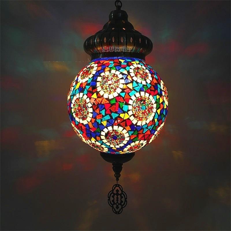 25cm Ball New style Turkey ethnic customs handmade lamp romantic cafe restaurant bar tree Pendant light bar Mosaic Pendant lamp