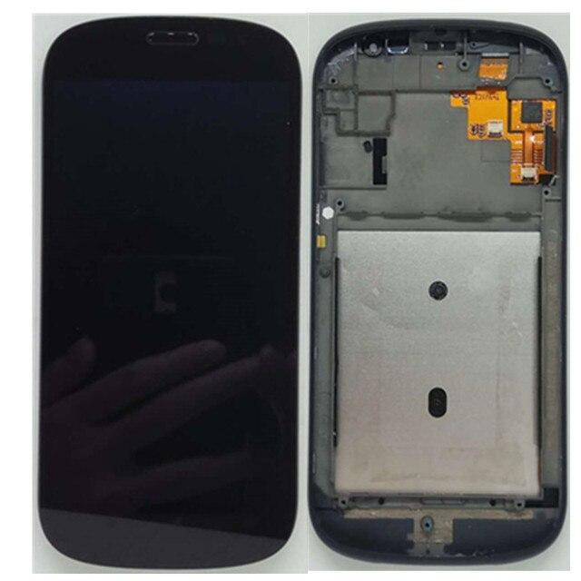 الأصلي الأسود مع الإطار الجبهة LCD ل Yotaphone 2 YD201 YD206 شاشة الكريستال السائل محول الأرقام + شاشة تعمل باللمس الجمعية + أدوات