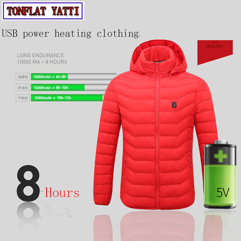 New 2019 USB Smart Charging Heating Jacket Winter Thermal Clothing Body Heating Warm Thermostatic Winter Clothes 2 coloursNew 2019 USB Smart Charging Heating Jacket Winter Thermal Clothing Body Heating Warm Thermostatic Winter Clothes 2 colours
