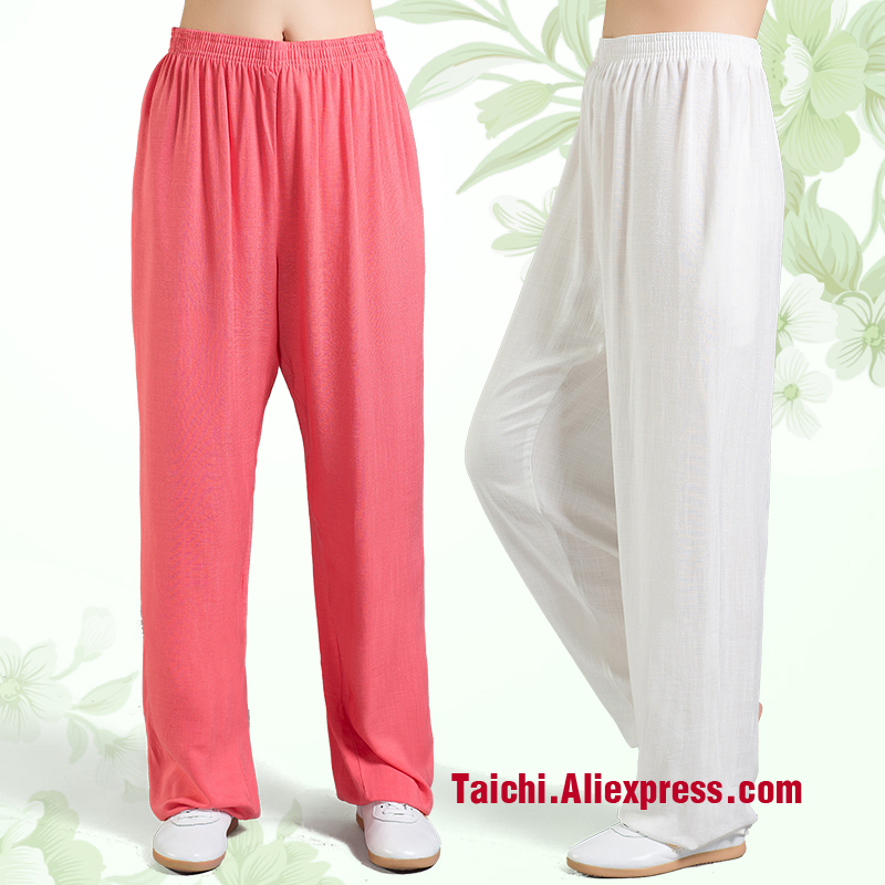 Linen  Tai Chi Pants  Wu Shu Pants  Yoga  Pants Kung Fu trousers 9 color  S-XXXL