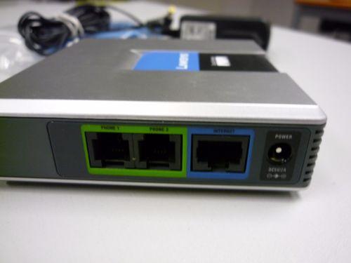 LINKSYS PAP2T-NA SIP VOIP teléfono adaptador de teléfono VoIP Linksys PAP2T Internet adaptador de teléfono dos puertos sin caja de venta al por menor