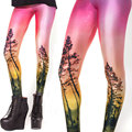 Adult Women Legging Woman Red Leggings Jeggings Forest Legings Fitness Legging Pant Printed Leggings