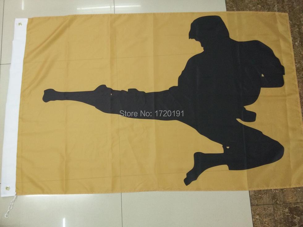 Бесплатная доставка флаг 3ft * 5ft100 полиэстер % тхэквондо PT упражнения физической фитнес