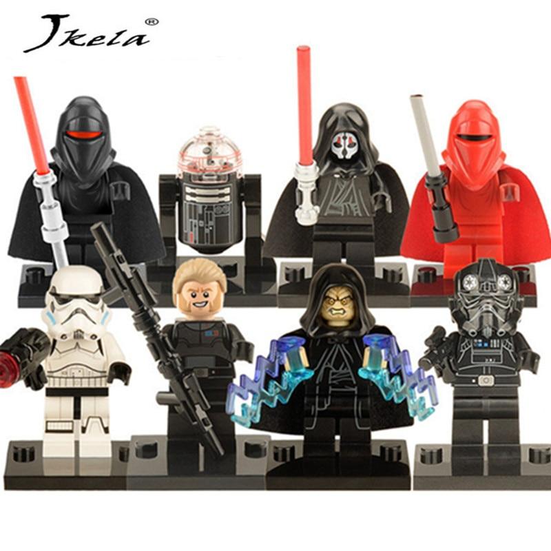 [New] 1PC Star Wars Kallus R5D4 Robot Count Dooku Darth Vader Darth Maul Building Blocks Toy Compatible Legoingly starwars