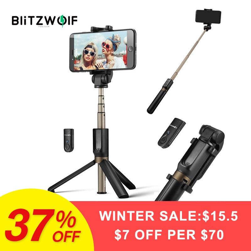 BlitzWolf BW-BS3 3 in 1 Drahtlose Bluetooth Selfie Stick Stativ Mini Erweiterbar Einbein Universal Für iPhone Für Samsung Stabile