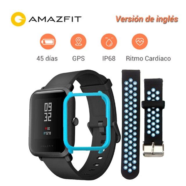 Reloj inteligente Xiaomi, Huami Amazfit Bip versión juvenil , reloj impermeable inteligente Bluetooth 4.0 GPS frecuencia cardíaca 45 días batería IP68, envío rápido