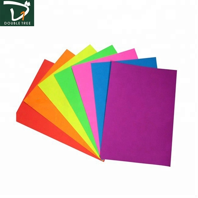 Factory Directly Selling Various Color Bright Neon Paper Color Fluorescent Paper Custom Sticky Notes
