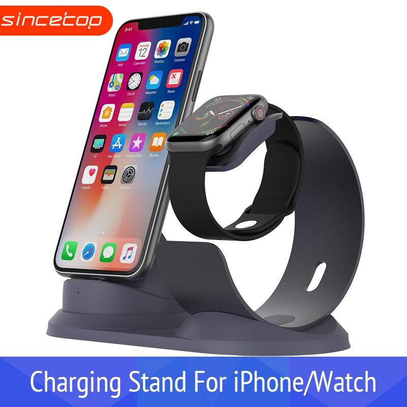 Telefone do Relógio de Alumínio suporte De secretária doca estação De Carregamento doca para Apple carregador de suporte do telefone móvel titular suporte de carga para o iphone