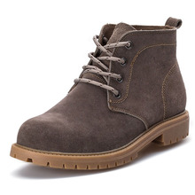 men cow split martin boots suede shoes oxford cowboy leather timber botas hombre casual askeri bot 2016 lace up flat comfortable