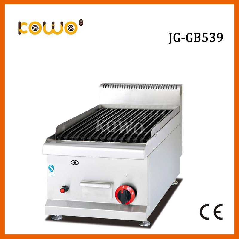 Commercial table counter top stainless steel Gas Lava Rock Grill for resturant kitchen equipment