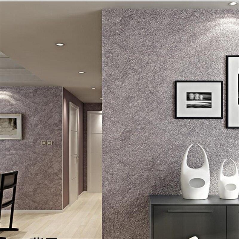 US $56.09 29% OFF|Beibehang moderne einfache wohnzimmer vliestapete  wohnzimmer einfache einfarbige tapete schlafzimmer tapeten-in Tapeten aus  ...