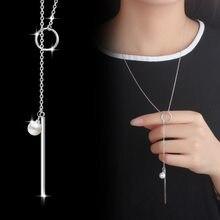 Collar de cadena MEEKCAT para mujer, collar largo de tira circular para mujer, collar de 80cm, collares y gargantillas S-N51