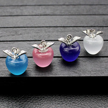 Fashion Crystal Apple Artificial Opal Jewelry Accessories Brand New High Quality Christmas Decoration Gift