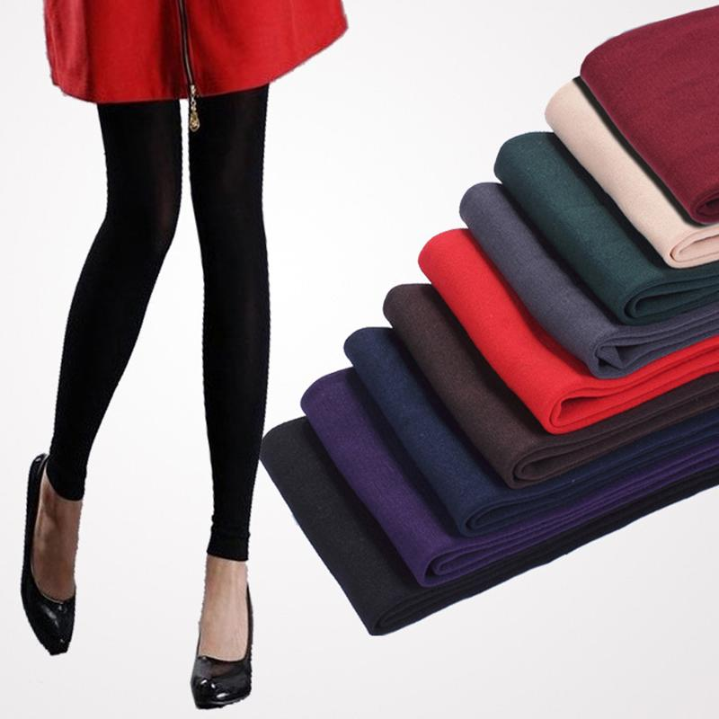 IMucci Autumn and Winter Skinny Single Layer Brushed   Leggings   Joker Ladies Nine Points Bottoming   Legging