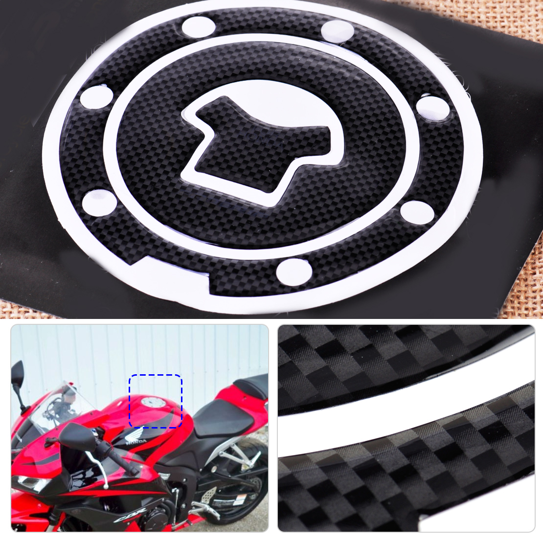 CITALL 1pc Motorcycle Sticker Fuel Gas Cap Tank Cover Pad Decal ... for Honda Sticker Design For Motorcycle  55dqh