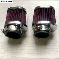 XUANKUN Cafe Racer Retro Motorcycle Modified Large Flow Air Filter Straight Head Mushroom Head Mushroom Head Empty Filter